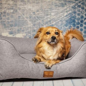 Hundebett Kuschelkoje kiesel