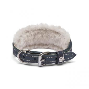 Windhundhalsband Whippet deLuxe mit Lammfell